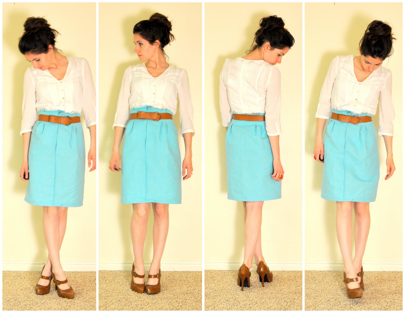 How to make a paper bag skirt with box pleats tutorial!
