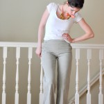 An easy way to take in your pant's waistband