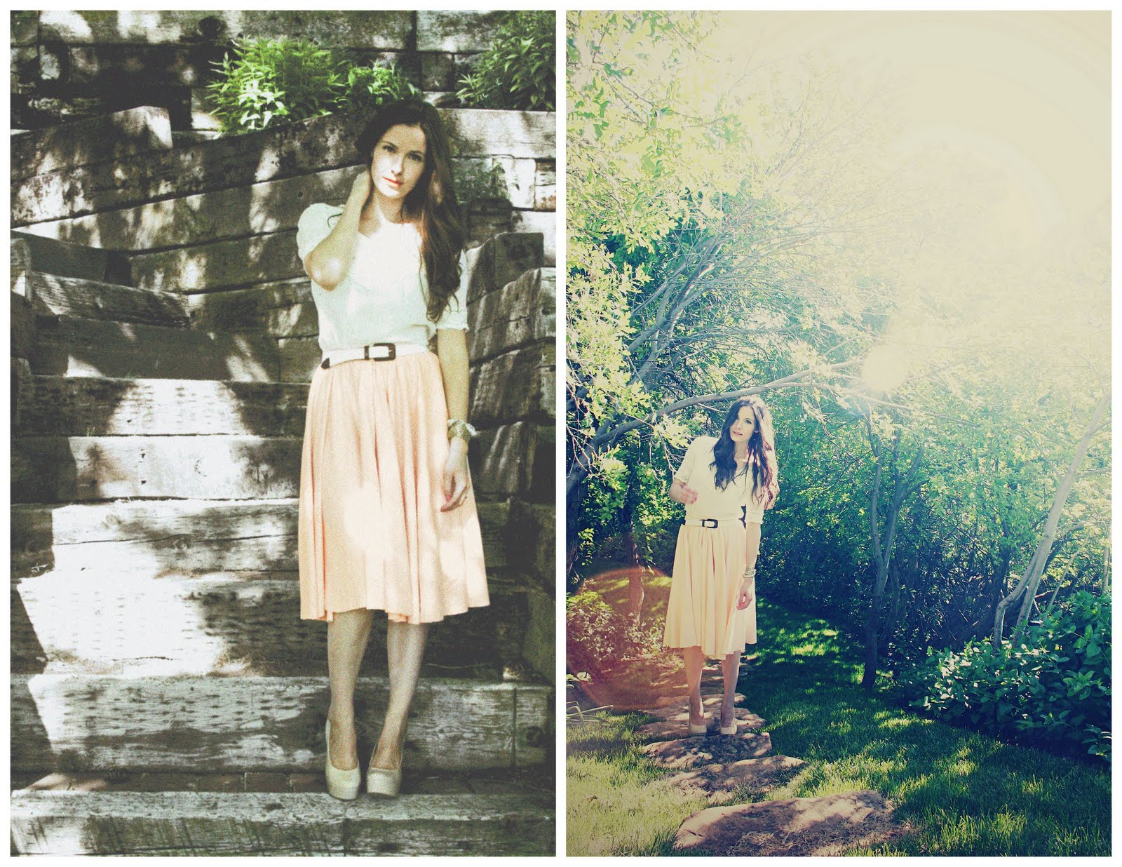 Knit midi circle skirt with elastic waist tutorial bankloansurffo Image collections