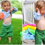 A temporary way to take in kid's or adult's pants