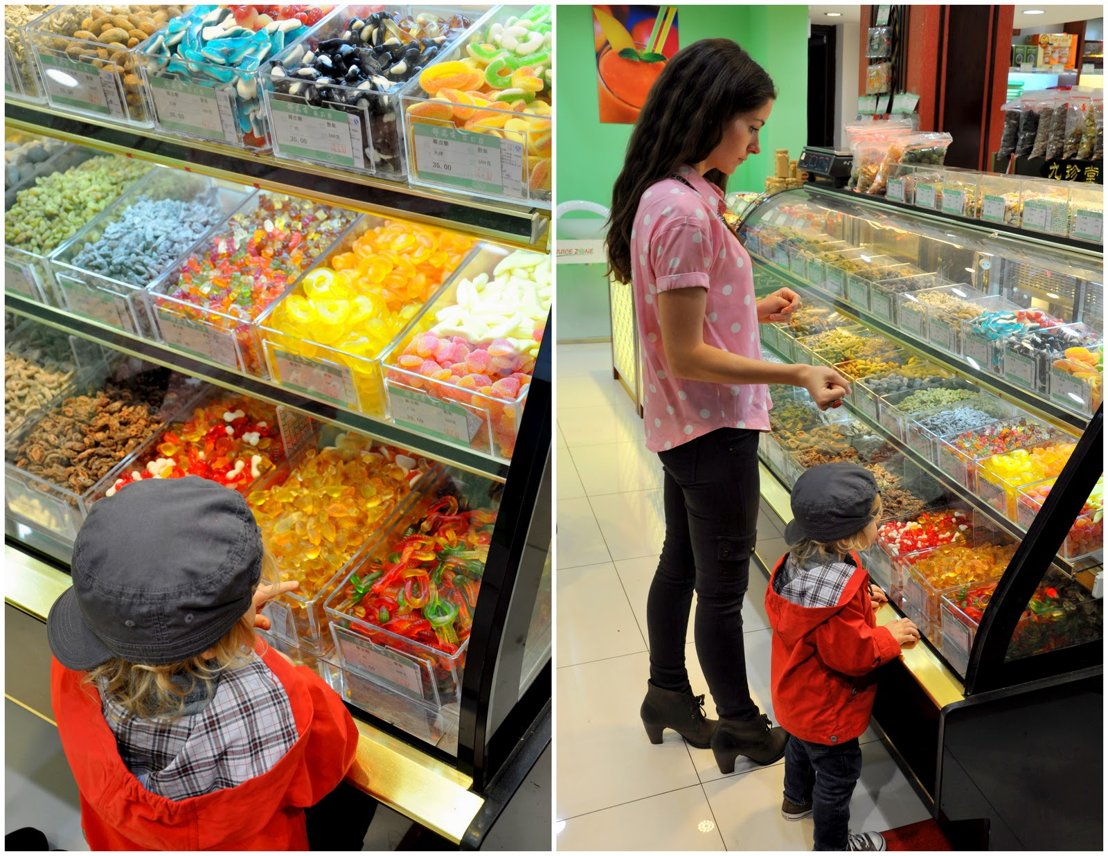 Inside a Chinese candy store