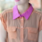 Detachable purple leather collar