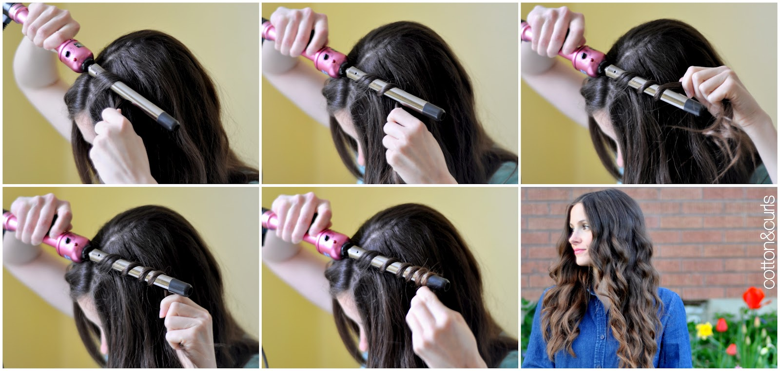 Spiral curls hair tutorial – for long or short hair!