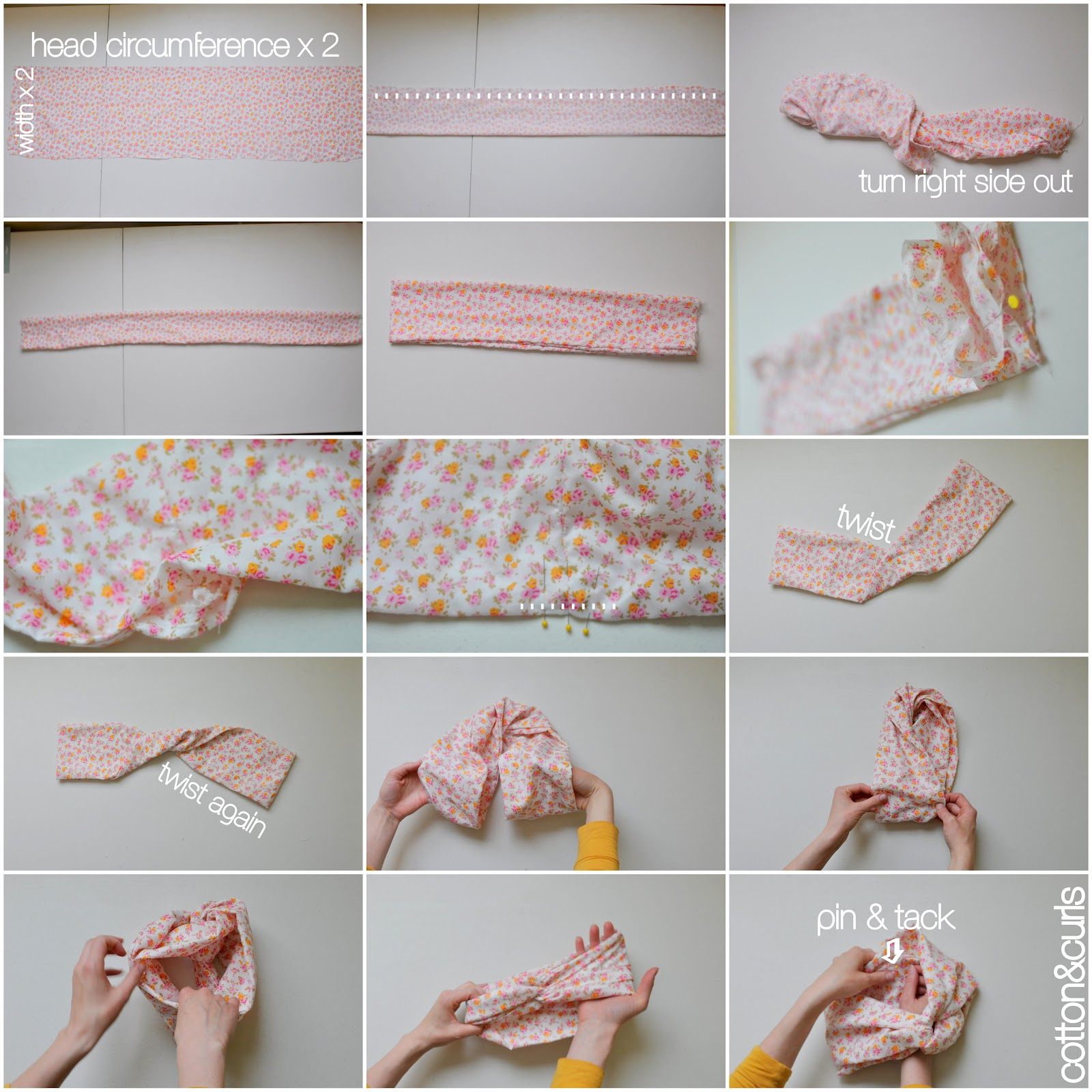 Twisted Turban Headband Pattern