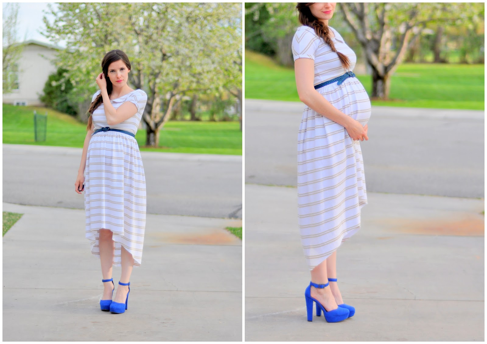 Maternity or non maternity striped knit tapered dress maternity or non maternity striped knit tapered dress ombrellifo Images