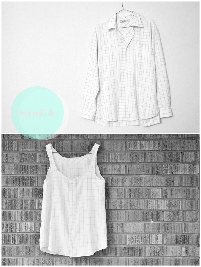 http://www.cottonandcurls.com/2012/06/mens-button-up-to-summery-flowy-tank-top-tutorial/