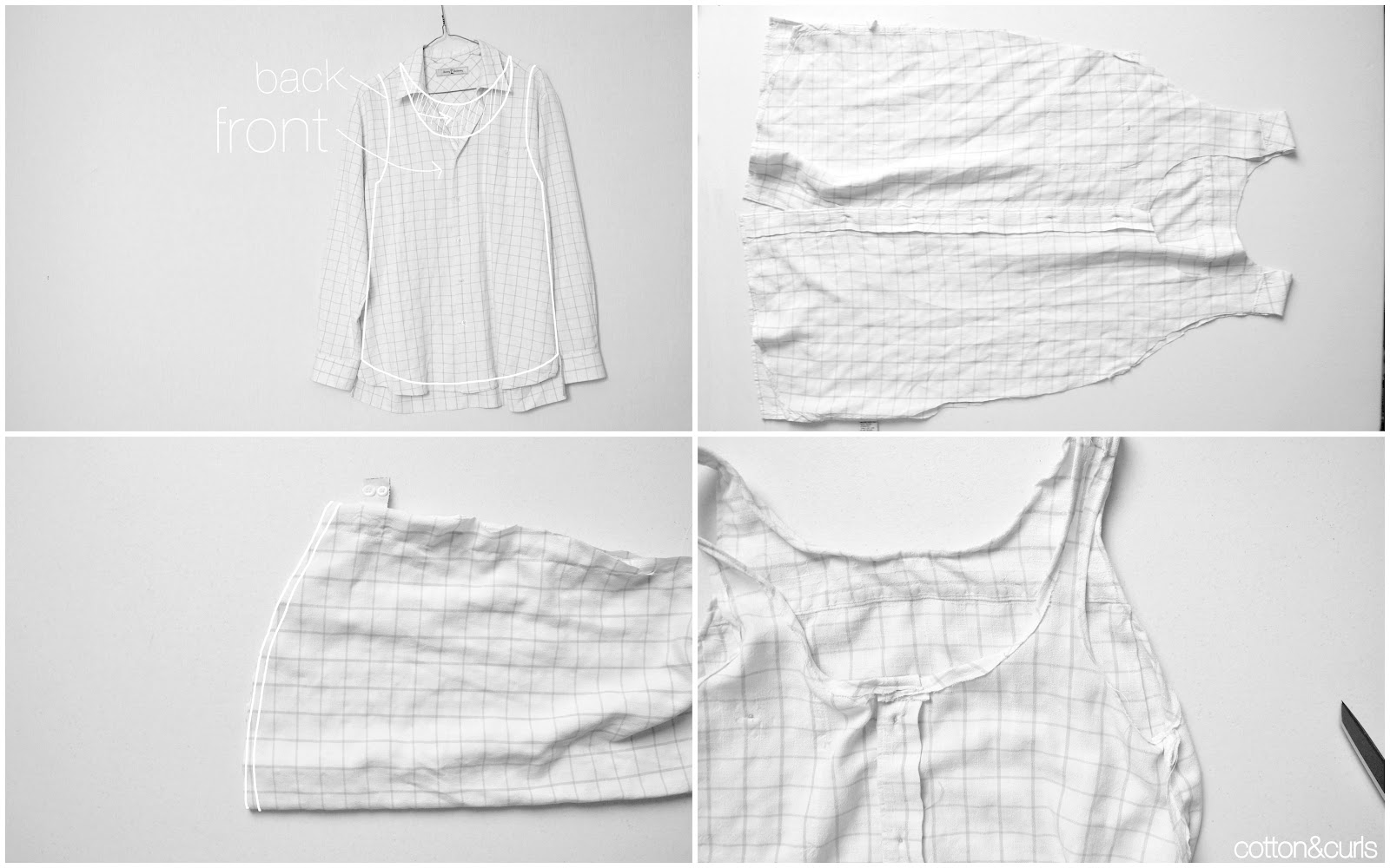 Men\'s button up to Summery flowy tank top tutorial