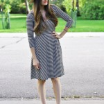 The benefit of buying an oversized dress and how to take it in tutorial