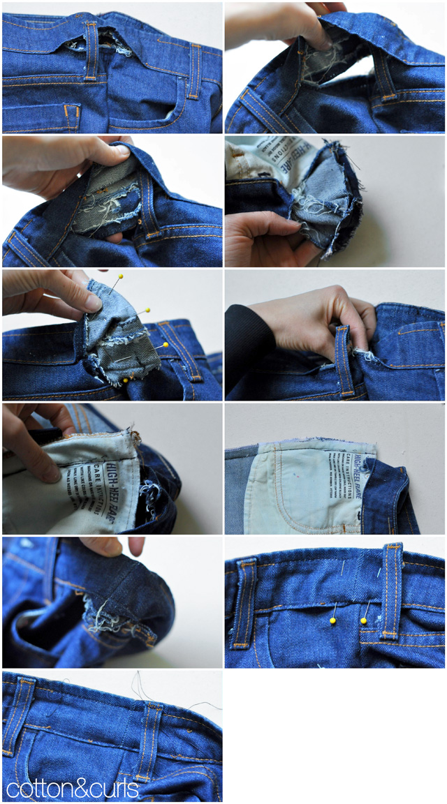 The more professional way to take in a the waistband and ...