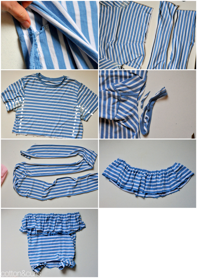 Men s top to peplum top tutorial for Making a shirt from scratch