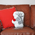 Rudolph the red nosed reindeer pillow tutorial