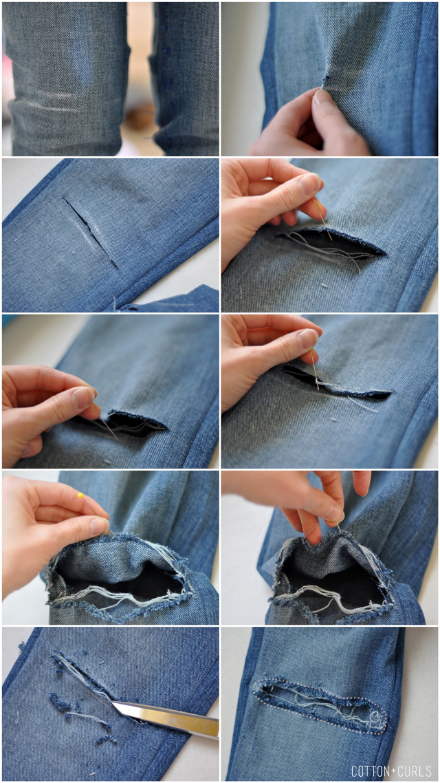 How to make holes in your jeans tutorial how to prevent the hole how to make holes in your jeans tutorial how to prevent the hole from expanding solutioingenieria Gallery