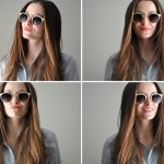 DIY gold rimmed sunglasses tutorial