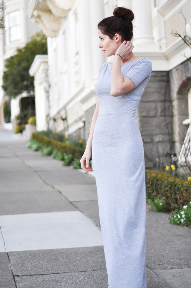 Knit Maxi Dress Pattern : Long tight knit maxi dress tutorial