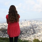 high low gathered back shirt tutorial and the beautiful view of san francisco