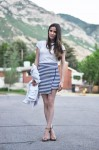 DIY asymmetrical wrap skirt perfect for a pool coverup or a night out