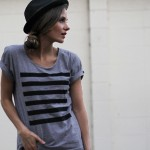 DIY Lined graphic tee