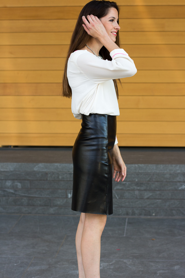 DIY leather A-line skirt