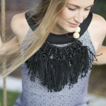 DIY Tribal Fringe Necklace