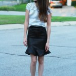 DIY flirty trumpet skirt