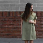 DIY boxy dress with a pocket