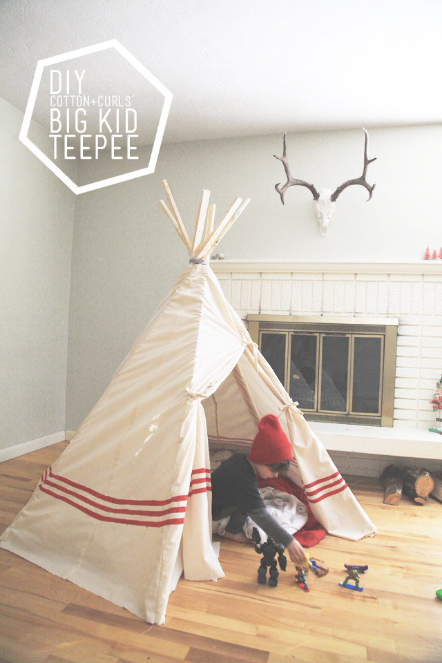 + DIY big kid teepee (a $22 project!) u2013 on the 7th day of XMAS tutorials & DIY big kid teepee (a $22 project!) u2013 on the 7th day of XMAS tutorials