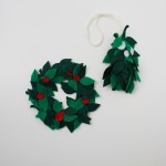 4th day of XMAS [tutorials] DIY holly and mistletoe for giftwrapping or decor!