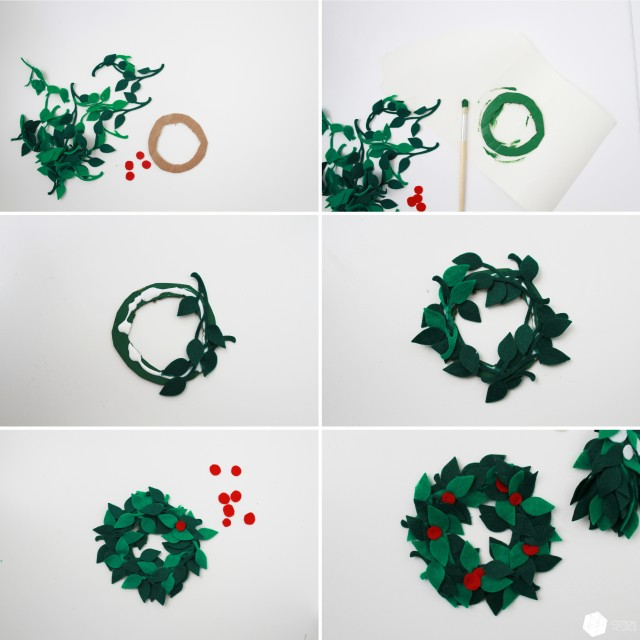 felt wreath and mistletoe1 copy