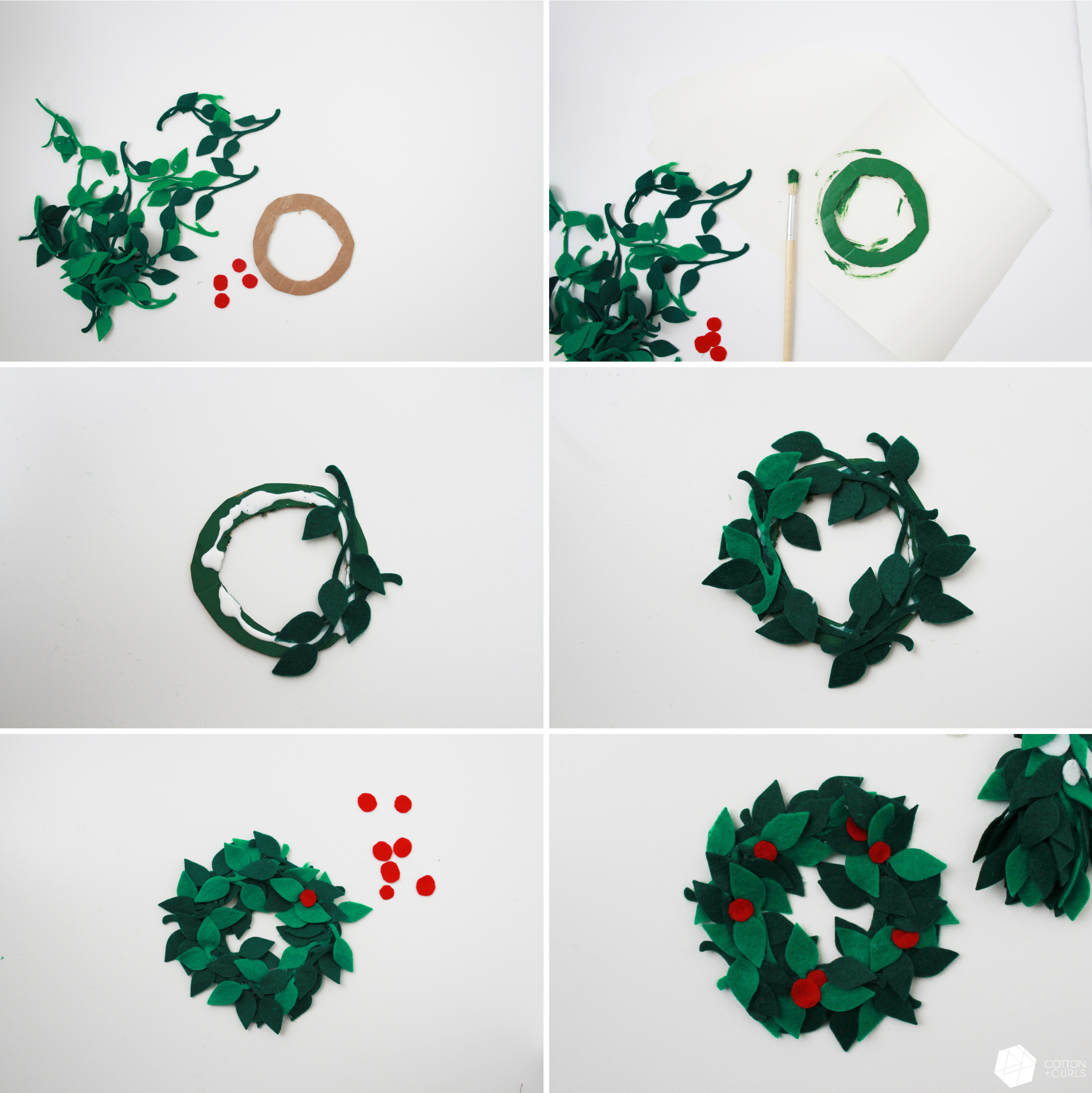 4th day of xmas tutorials diy holly and mistletoe for giftwrapping or decor. Black Bedroom Furniture Sets. Home Design Ideas
