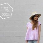 Easy gathered girly top tutorial