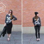 DIY jersey sweatshirt – styled 2 ways