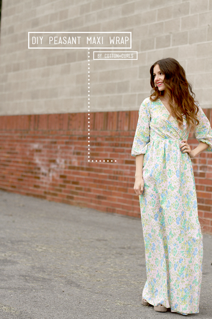 cotton and curls maxi dress tutorial