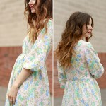 DIY painted gingham maxi