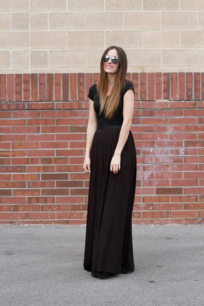 4 step diy maxi skirt with optional slits c c bloglovin