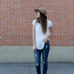 DIY ruched short sleeve blouse (what I wore to a wedding)