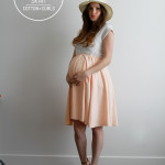 DIY maternity circle skirt