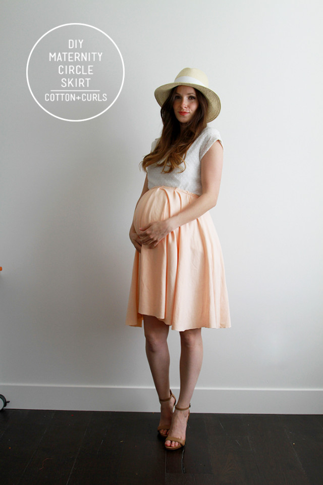 DIY maternity circle skirt | C&C