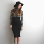 3 very easy maternity pencil skirt diys