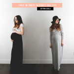 three 3o minute maternity maxi DIYs