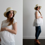 DIY maternity peplum top