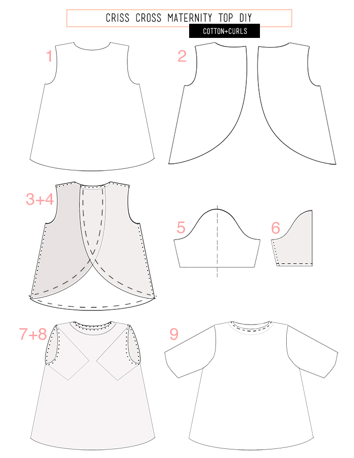 quick criss cross maternity top diy c c bloglovin Vintage Pin Curls and when you are all done with being pregnant just take in the sides a few inches by tapering it less from the armholes and you have a tighter swing to