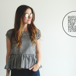 boxy Ruffle bottom crop top video tutorial