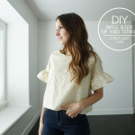 DIY ruffle sleeve top video