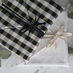 DIY fabric envelope gift wrapping + storage bonus (perfect for framed art and pictures)