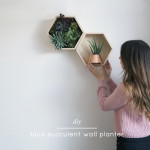 DIY Faux Succulent Wall Planter