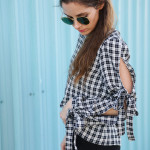 DIY split sleeve with bow detail top refashion (+cute open back!)