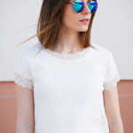 DIY 5 minute lace top