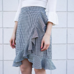 DIY Ruffle Wrap Skirt Refashion