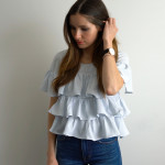DIY triple ruffle top from dress refashion video